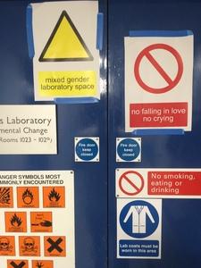 Old lab signage