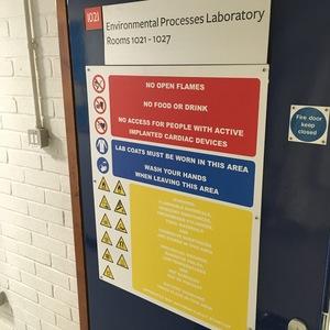 New lab signage
