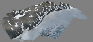 Topographic model derived from structure-from-motion.
